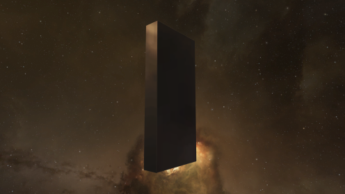 The Black Monolith (oblique)